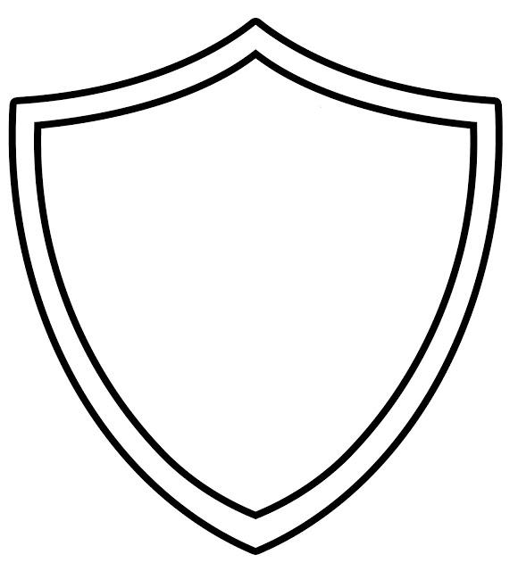 580x640 Shield Template Shield Outline Clip Art