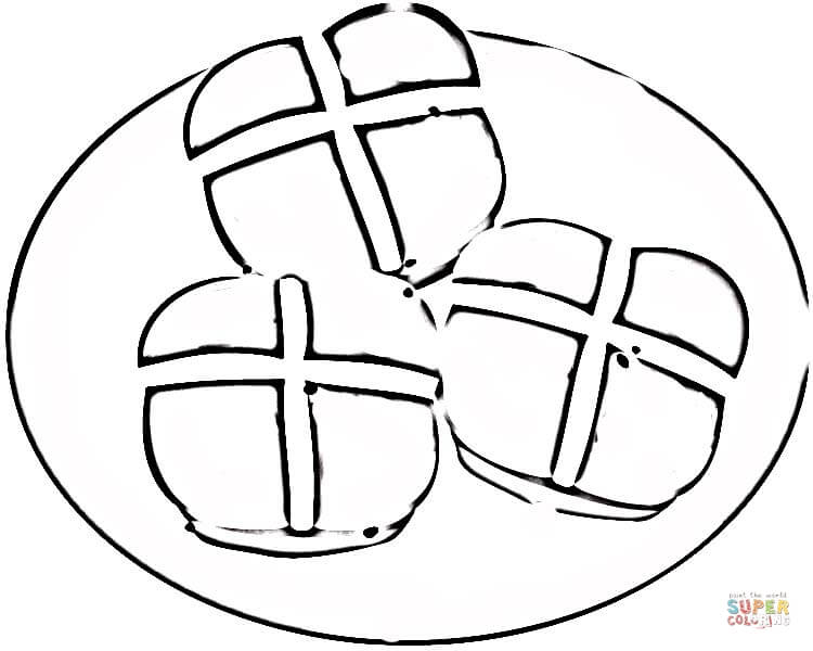750x600 Bread Roll Clipart Coloring Page
