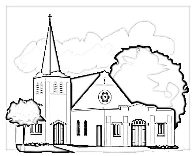 640x511 Coloring Pages Church Iphone Coloring Coloring Pages