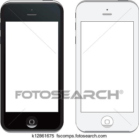 450x449 Clipart Of Vector Iphone 5 K12861675