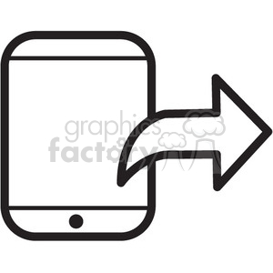 Iphone Clipart Black And White