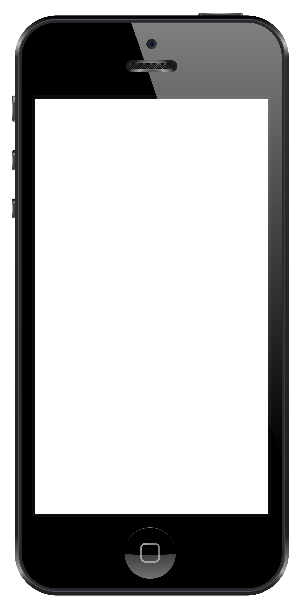 1193x2400 Free Smartphone Clipart Black And White Image