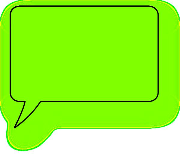 600x511 Green Lefthand Speech Bubble Clip Art