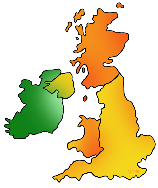 545x648 Explorers Clip Art By Phillip Martin, Great Britain And Ireland Map
