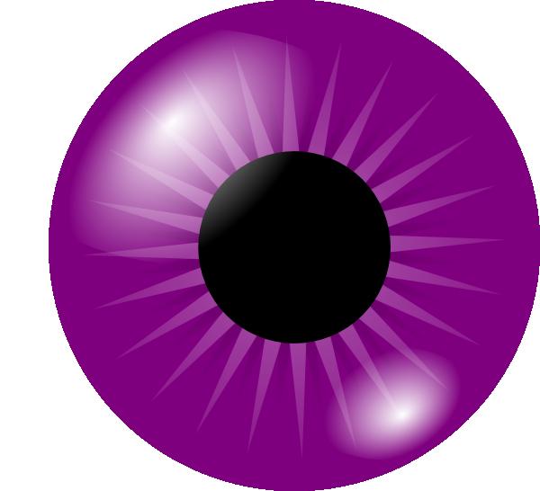600x546 Purple Eye Clip Art