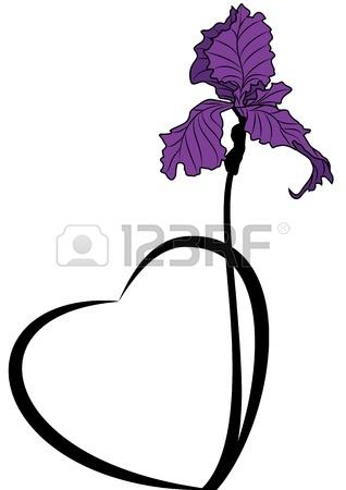 318x450 Iris Flower Clip Art