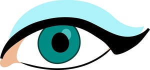 300x140 Eye Clipart Image