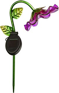 204x320 Regal Art Ampgift Solar Bell Flower Stake, Purple