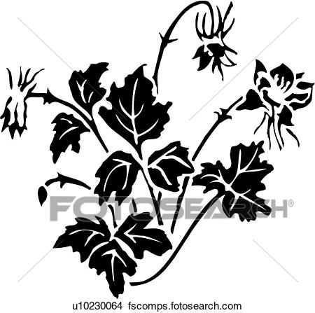 450x447 Clipart Of , Flower, Iris, U13856012