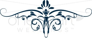 300x125 Navy Iris Scroll Clipart Clipart Color Variations