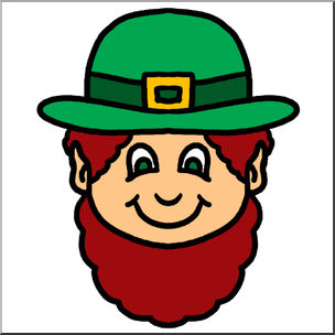 304x304 Clip Art Cartoon Faces Leprechaun Color I Abcteach