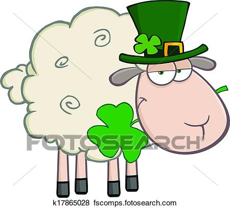450x407 Clip Art Of Irish Sheep Cartoon Character K17865028