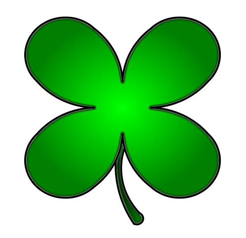 498x482 Irish clipart four leaf clover