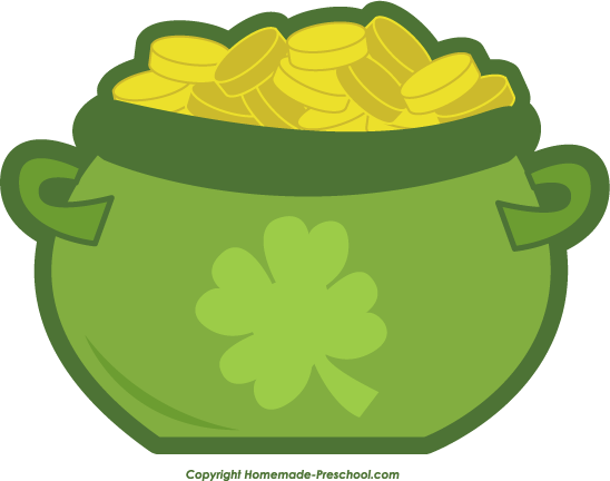 548x432 Pot of gold free irish clipart