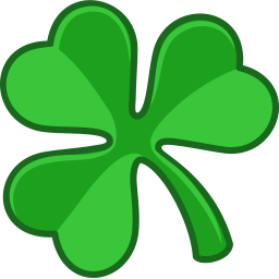 256x256 Irish Clover Clipart
