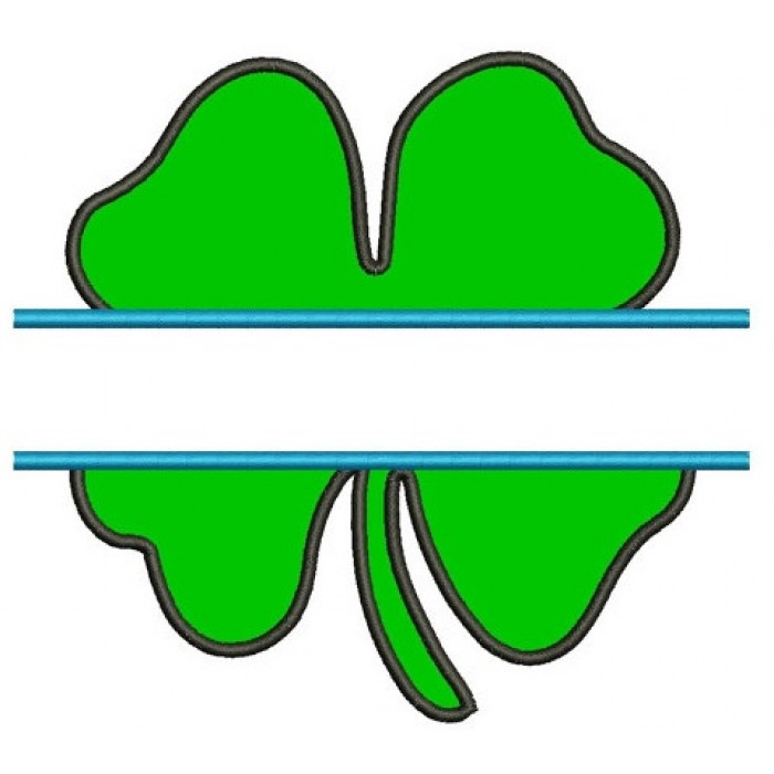 700x700 Clover Split Applique Shamrock