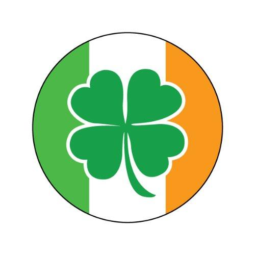 500x500 4 Leaf Clover On Irish Flag Decorative Bathroom Sink Stopper Toppers