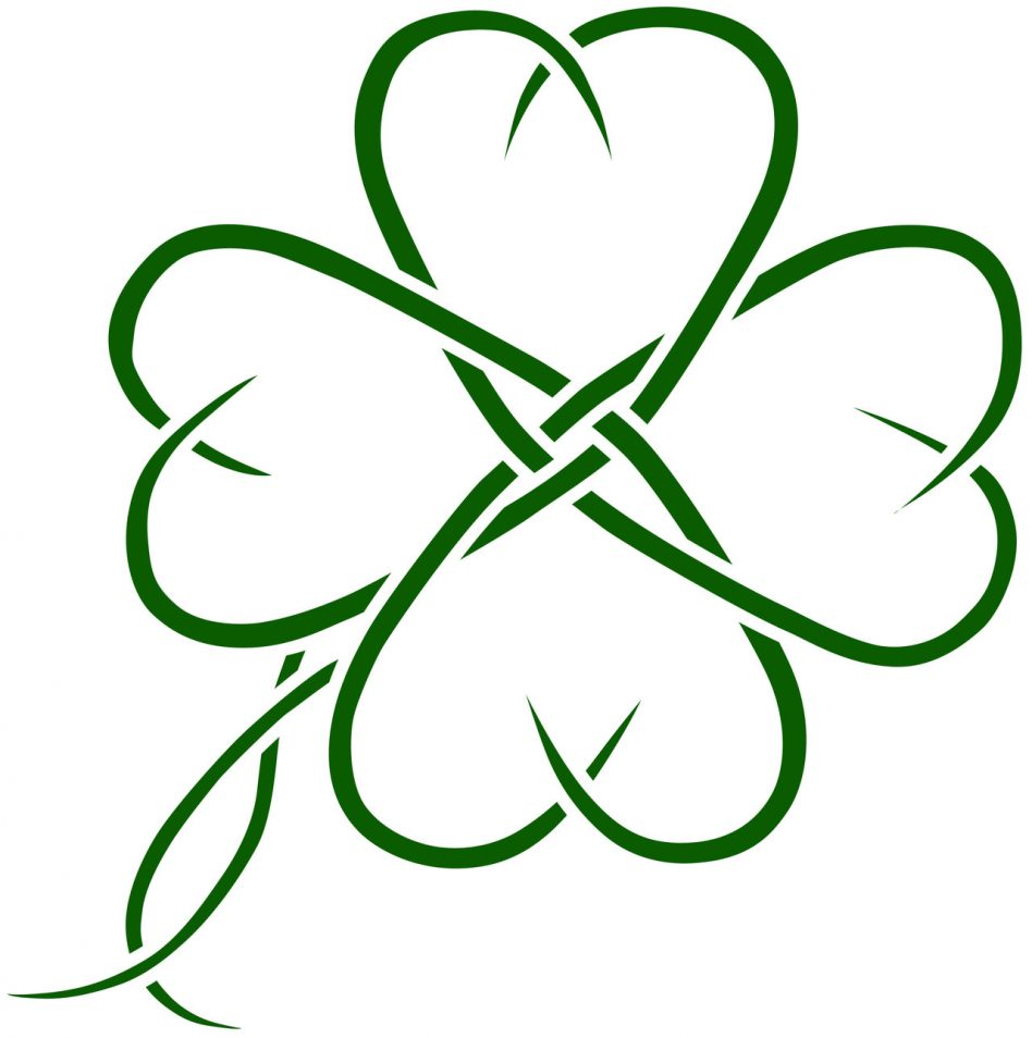 948x954 Four Leaf Clover Clipart Of Shamrocks And Clovers Clipartix