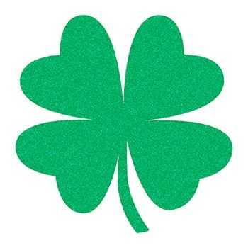 350x350 Glitter Four Leaf Clover Temporary Tattoo For Irish Luck