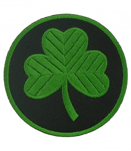 435x500 Green Amp Black Shamrock Patch Irish Shamrock Patches