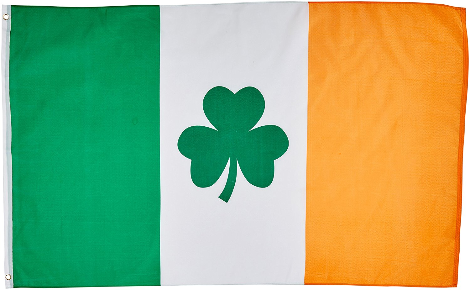 1500x925 3'X5' Irish Shamrock Flag, Clover Saint Paddys Pattys