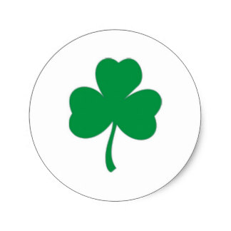 324x324 Irish Shamrock Stickers Zazzle