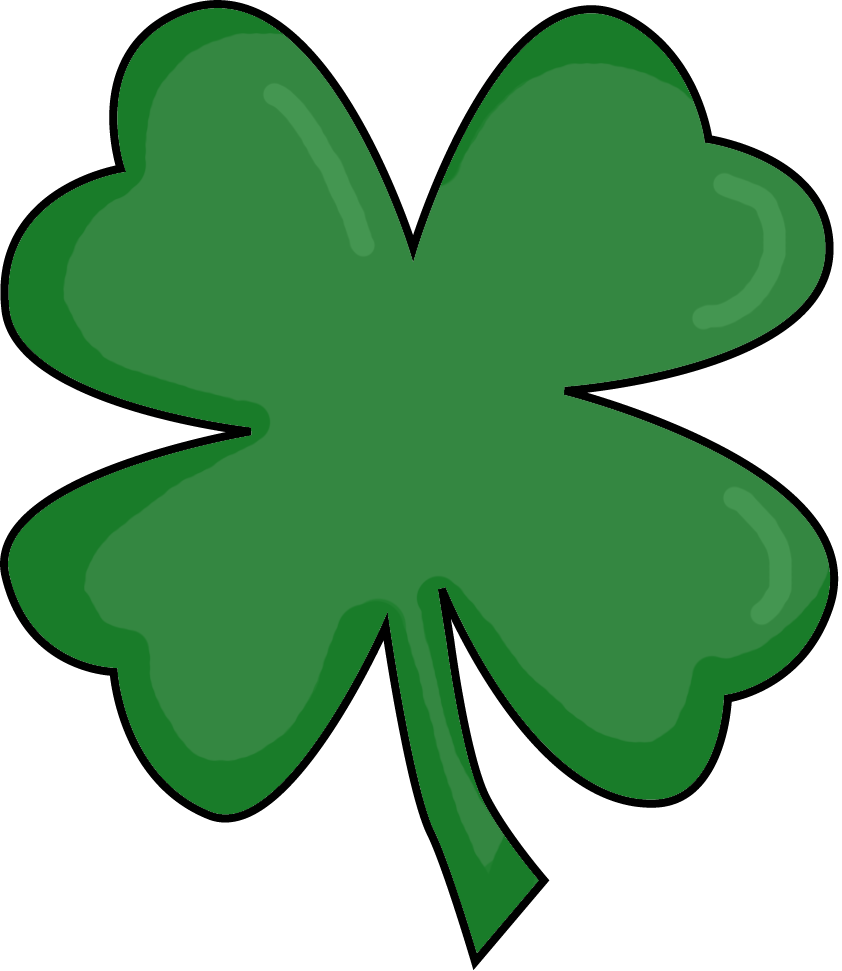 842x971 Irish Clipart Four Leaf Clover