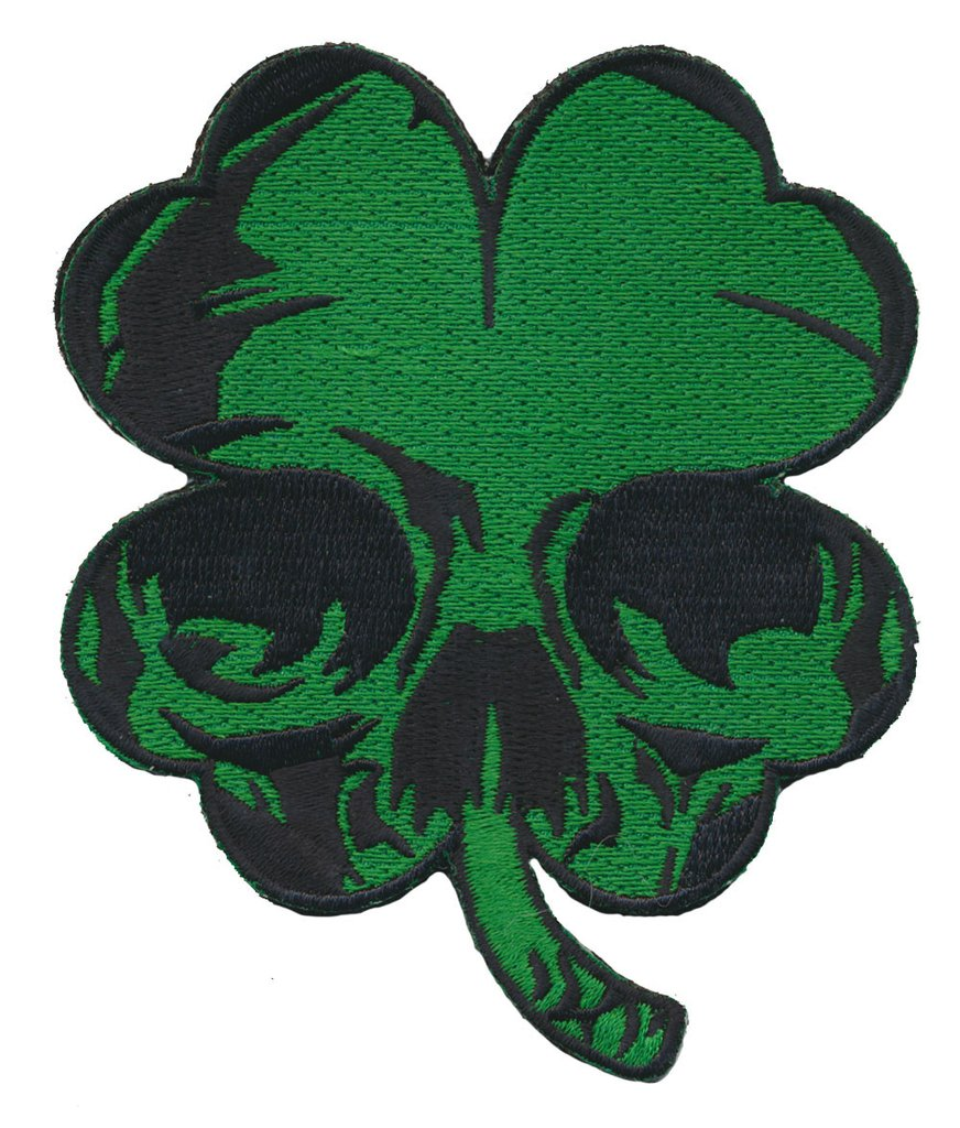 872x1024 Luck Of Irish Clover Skull Patch