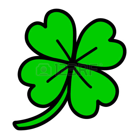 450x450 Lucky Irish Clover Leaf Royalty Free Cliparts, Vectors, And Stock