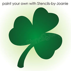 300x300 Stencil Shamrock Flower Shape Lucky Irish Celtic 4 Leaf Clover