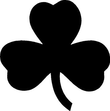 354x355 Irish Shamrock Ireland White Window Sticker Decal