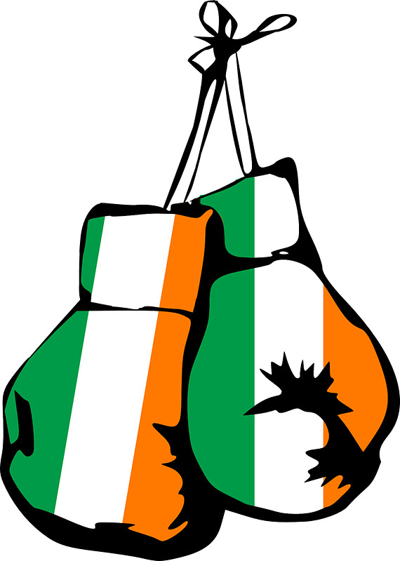 570x800 Ireland Flag Boxing Gloves Stickers By Imagemonkey Redbubble