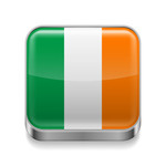 150x150 Irish Flag With Shamrocks Royalty Free Vector Clip Art Image