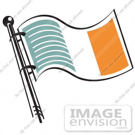 450x450 Royalty Free Cartoon Clip Art Of A Green White And Orange Irish