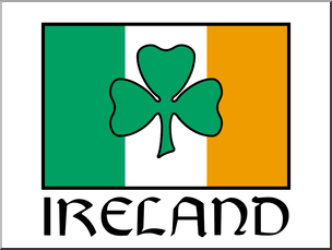 304x229 Clip Art Irish Flag W Shamrock Color I Abcteach