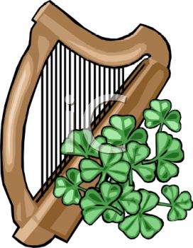 272x350 Irish Harp And Clover