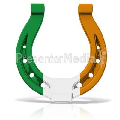 400x400 Irish Colored Horseshoe