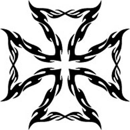 500x500 Tribal Iron Cross Vinyl Decal Sticker Car Truck Tattoo Ebay