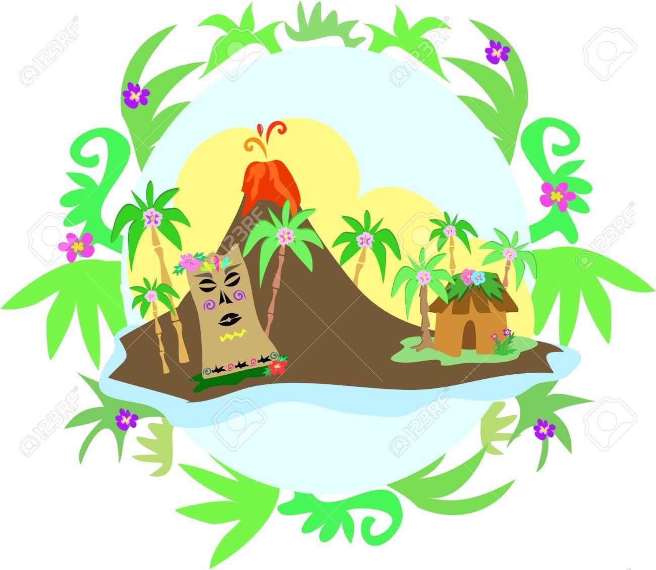 1300x1130 Volcano Clipart Hawaii Island