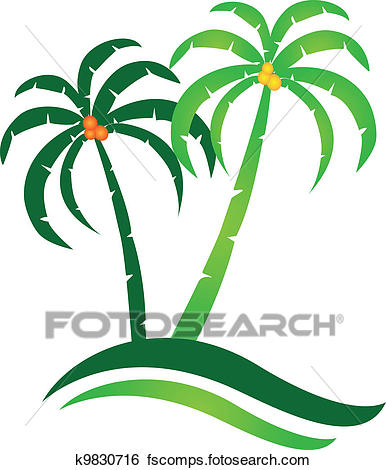 386x470 Clip Art Of Tropical Island Logo Vector K9830716