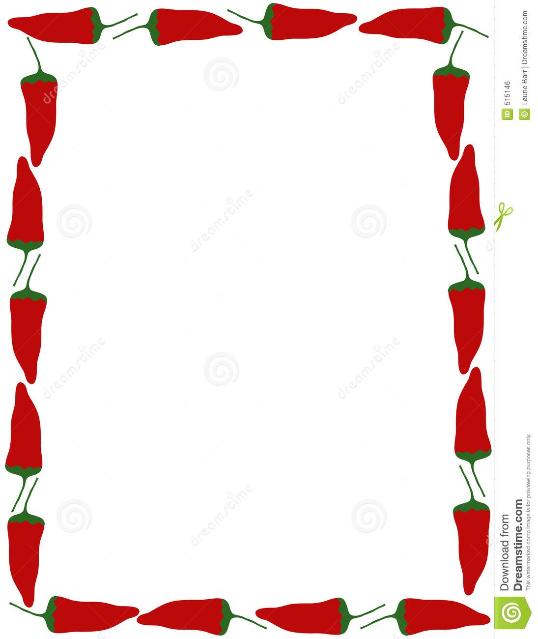 1095x1300 Food Border Clip Art