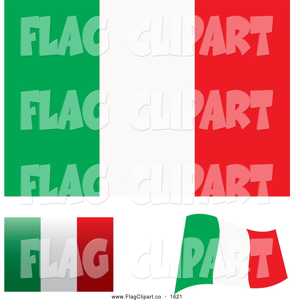 1024x1044 Italian Flag Waving Clip Art