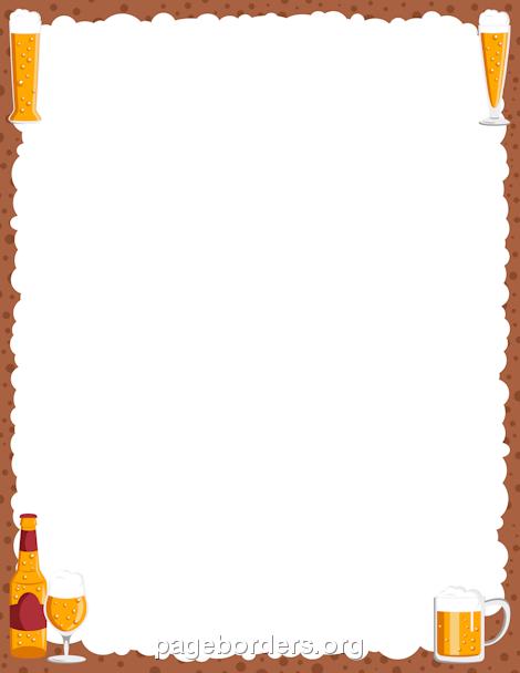 470x608 Pizza Clipart Page Border