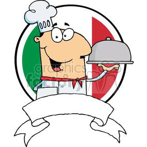 300x300 Royalty Free A Banner Of Male Chef Serving Food Platter