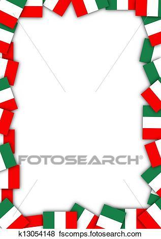 317x470 Stock Illustration Of Italy Flag Border K13054148