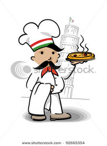 220x300 Image Italian Chef With Pizza Standing In Front Of The Leaning
