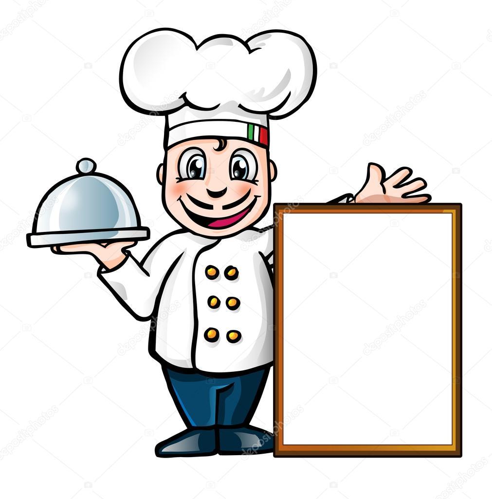 1011x1024 Italian Chef With Sign Stock Vector Doom.ko