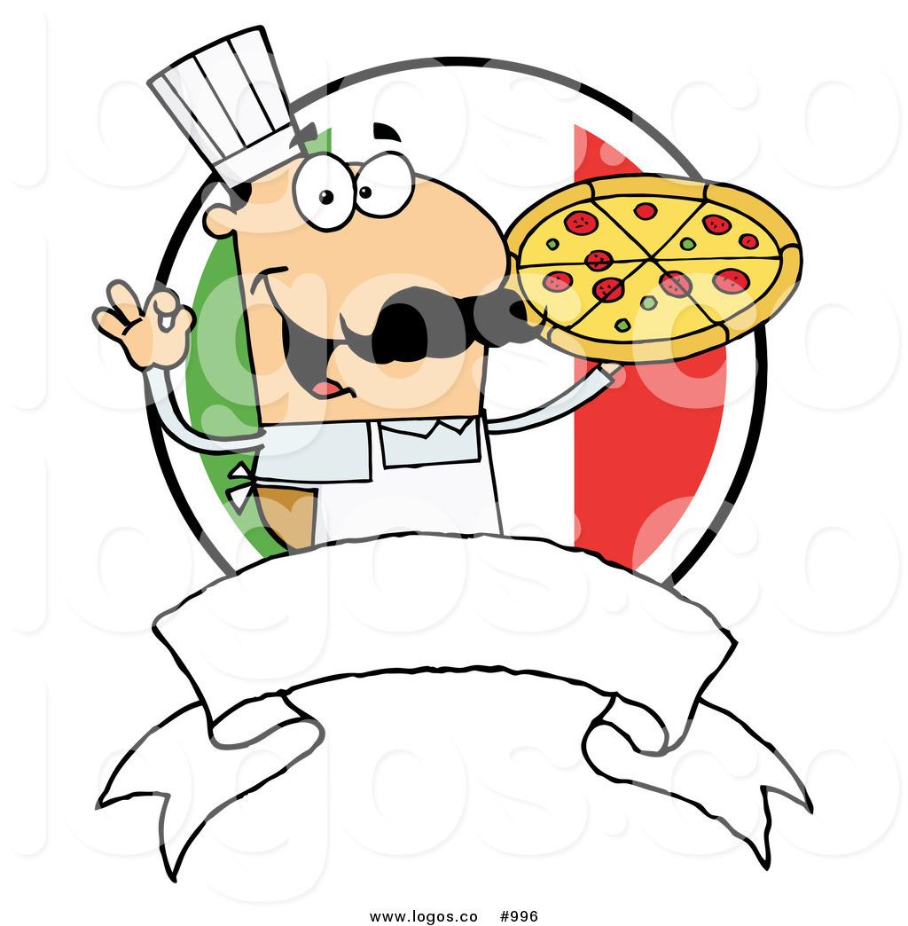 1024x1044 Royalty Free Italian Pizza Chef Vector Logo By Hit Toon