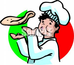 300x267 Art Image The Italian Flag And A Whistling Chef Tossing Pizza Dough