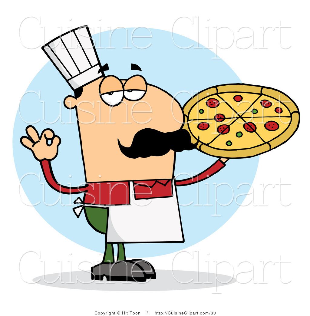 1024x1044 Cuisine Vector Clipart Of A Pleased Italian Pizza Chef Man